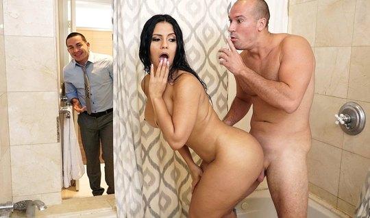 Порно секс в ваной