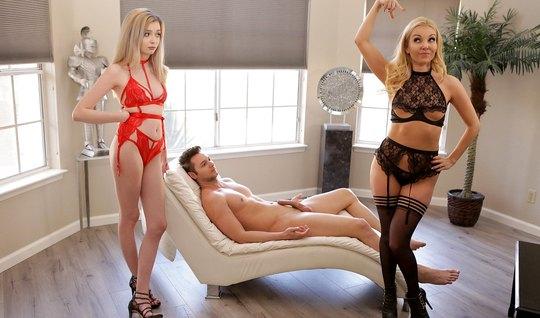 Алия Лав и Лекси Лор занялись групповым сексом с молодым мач...