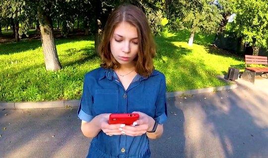Русская девушка повелась на пикап и на съемку домашнего поре...