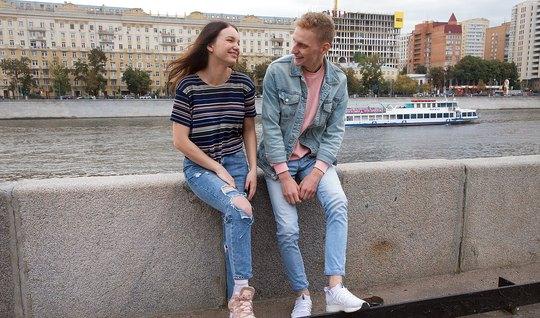 Русская молодая девушка согласна на пикап и секс с парнем на...